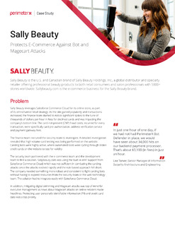 Sally Beauty Protects E-Commerce Against Bot and Magecart Attacks