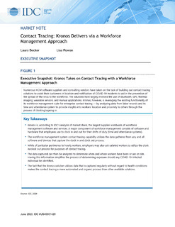 Contact Tracing: Kronos Delivers via a Workforce Management Approach