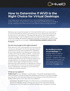 How to Determine if WVD is the Right Choice for Virtual Desktops