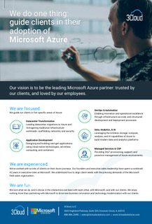 We Do One Thing: Guide Clients in Their Adoption of Microsoft Azure