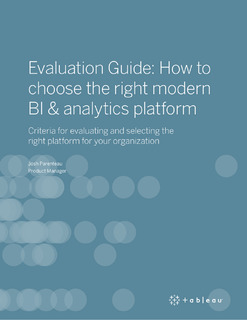 Evaluation Guide: How to choose the right modern BI & analytics platform