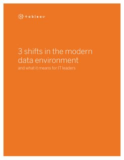 3 shifts in the modern data environment