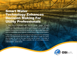 Smart Water Technology Enhances Decision Making for Water Utility Professionals
