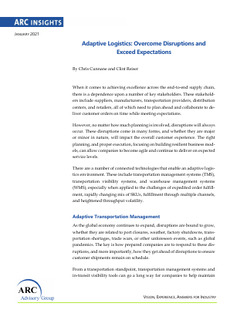 Adaptive Logistics: Overcome Disruptions and Exceed Expectations