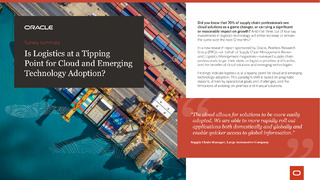 Survey Summary: Is Logistics at a Tipping Point for Cloud and Emerging Technology Adoption?