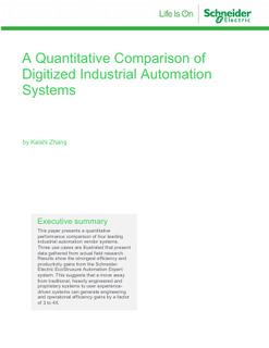 A Quantitative Comparison of Digitalized Industrial Automation System
