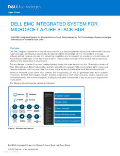 Dell EMC Integrated System for Microsoft Azure Stack Hub