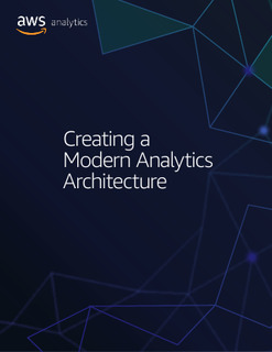 Creating a Modern Analytics Architecture
