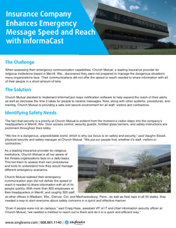 Insurance Company Enhances Emergency Message Speed and Reach with InformaCast