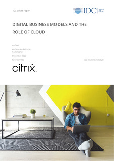 IDC White Paper: Digital Business Models and the Role of Cloud