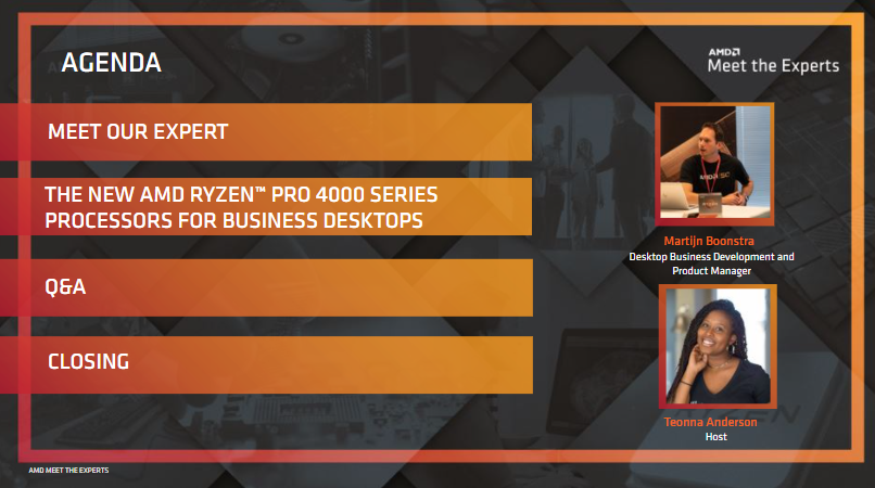 The New AMD Ryzen™ PRO 4000 Series Processors for Business Desktops