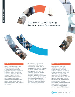 Protected: Six Steps to Achieving Data Access Governance