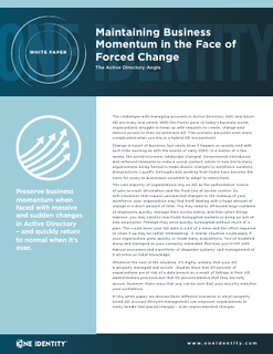 Maintaining Business Momentum in the Face of Forced Change