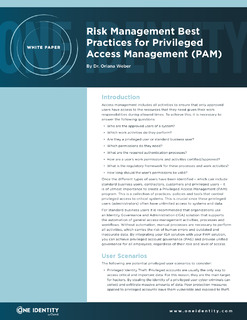 Protected: Risk Management Best Practices for Privileged Access Management (PAM)