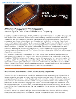 MD Ryzen™ Threadripper™ PRO Processors: Introducing the Third Wave of Workstation Computing