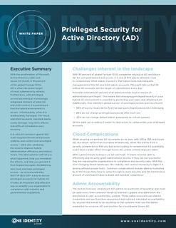 Privileged Security for Active Directory (AD)