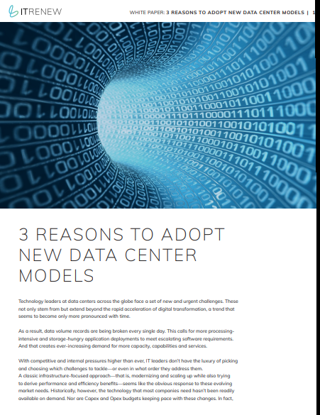 3 Reasons to Adopt New Data Center Models
