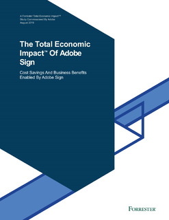 The Total Economic Impact Of Adobe Sign