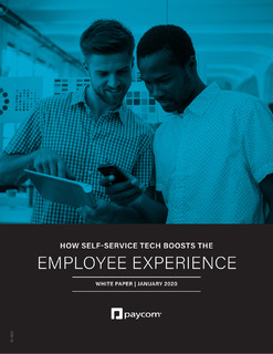 How Self-Service Tech Boosts Employee Experience