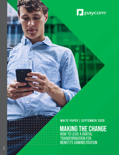 Making the Change: How to Lead a Digital Transformation to Success