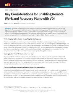 Analyst Report: Key Considerations for Enabling Remote Work and Recovery Plans with VDI