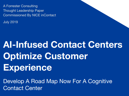 Forrester AI Infused Contact Center