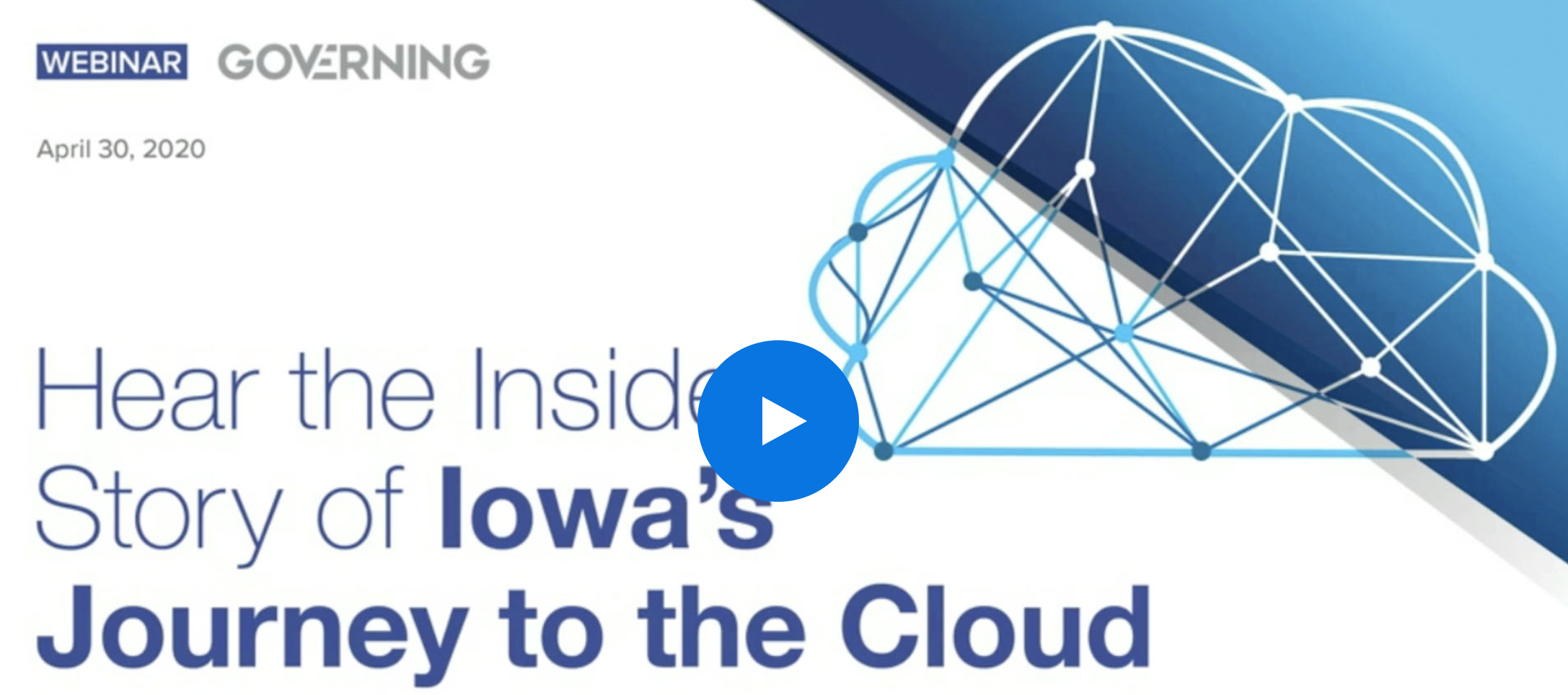 The State of Iowa's Journey to the Cloud