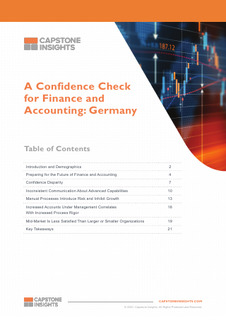 A Confidence Check for Finance and Accounting: Germany