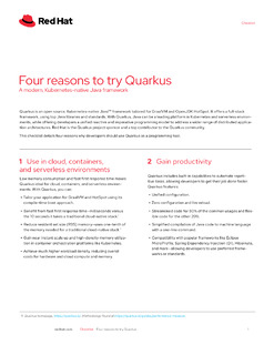 Four Reasons to Try Quarkus
