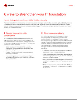 6 Ways to Strengthen Your IT Foundation