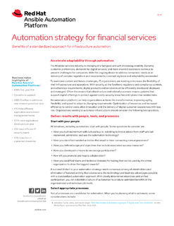 Automation Strategy for Financial Services