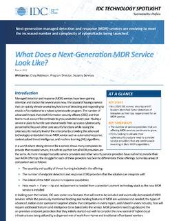 What Does a Next-Generation MDR Service Look Like? – IDC Technology Spotlight