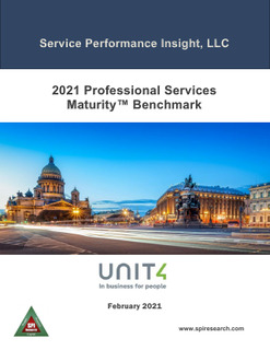 2021 Professional Services Maturity™ Benchmark