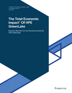 The Total Economic Impact™ Of HPE GreenLake