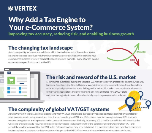 Why Add a Tax Engine to Your E-Commerce System?