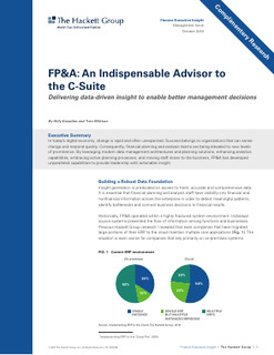 FP&A: An Indispensable Advisor to the C-Suite