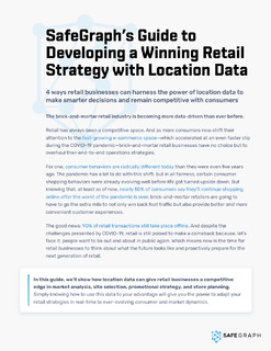 Guide to Developing A Winning Retail Strategy with Location Data