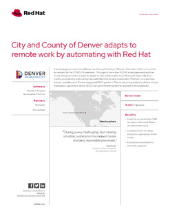 Denver Supports Remote Work with Red Hat Ansible Automation Platform
