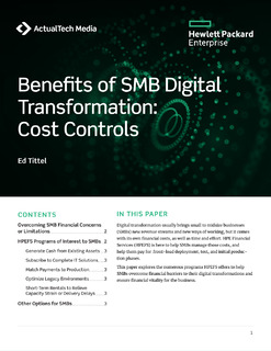 Benefits of SMB Digital Transformation: Cost Control (HPE Financial Services)