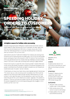 Speeding holiday orders to customers