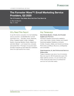 The Forrester Wave™: Email Marketing Service Providers, Q2 2020