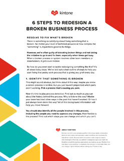 6 Steps To Redesign A Broken Business Process