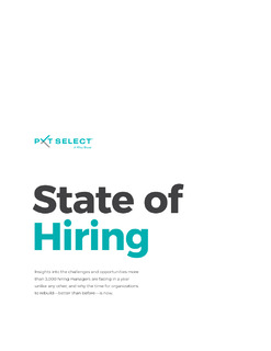 State of Hiring — Understanding pain points to rebuild better and stronger.