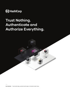 Trust Nothing. Authenticate and Authorize Everything.