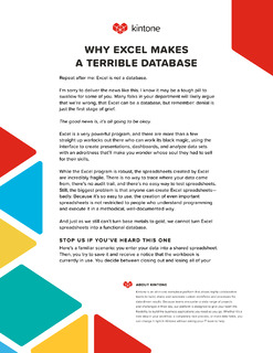 Why Excel Is A Terrible Database