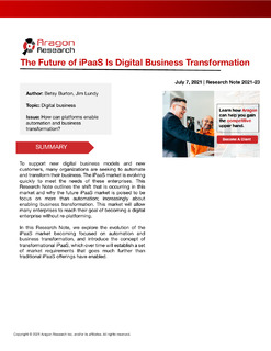 The Future of iPaaS Is Digital Business Transformation