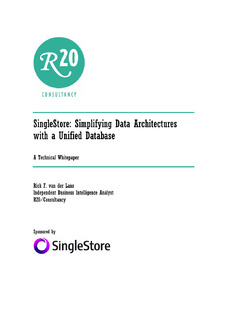 SingleStore: Simplifying Data Architectures with a Unified Database