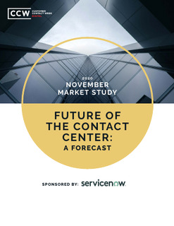 Future of the contact center: a forecast