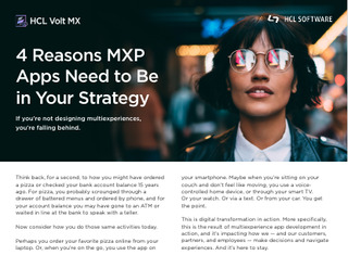 4 Reasons MXP Apps Need to Be in Your Strategy