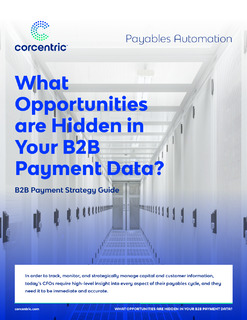 What Opportunities are Hidden in Your B2B Payment Data?